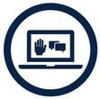 Handheben Chat digitale Versammlung